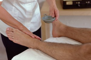 Man Receiving Aromatherapy Massage