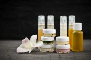 Skincare products, studio shot