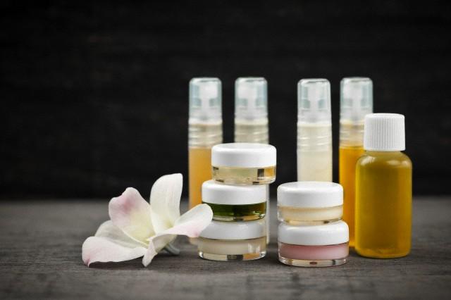 Skincare products, studio shot